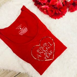 "Victoria's Secret ""Been an Angel all year red tank"